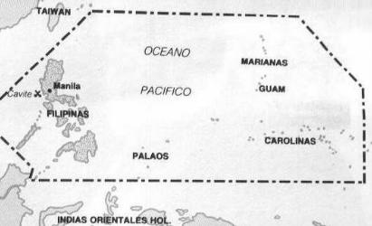Últimos restos del imperio español en el Pacífico. Fuente: Wikipedia